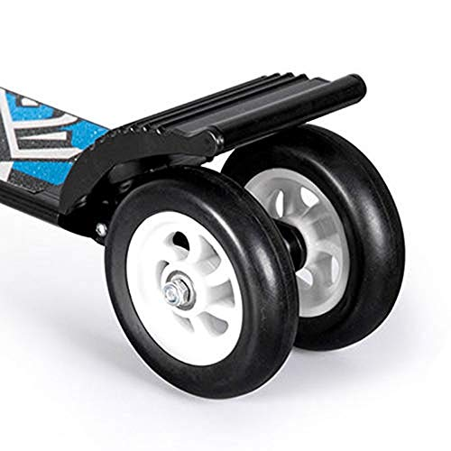 FDSjd Scooter King Scooter Folding Two Wheels Three Wheels Yo-Yo Beginner Big Boy Scooter (Color : Black, Edition : Three Rounds) by FDSjd (Image #3)