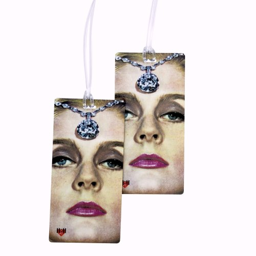 - Luggage Tags - Bag Tag Name ID Set for Suitcase, Baggage, with Classic Designs by 11:11 (Film Noir 2 PC)