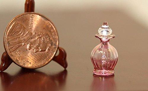 Philip Grenyer Dollhouse Miniature Cranberry Glass Eau de Cologne Bottle