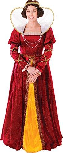 [Adult Fancy Dress Party Deluxe Victorian Queen Elizabeth Complete Costume] (Deluxe Adult Elizabeth Costumes)