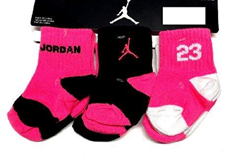 Nike Jordan 23 Baby Girl's Quarter Crew Socks 6 Pair, 6-12M
