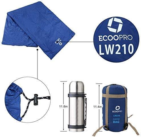 l/éger Convient aux adultes Sac de couchage pour le temps chaud 83 x 30 Id/éal pour le camping Portable le randonn/ée et le camping imperm/éable compact confortable avec sac de compression