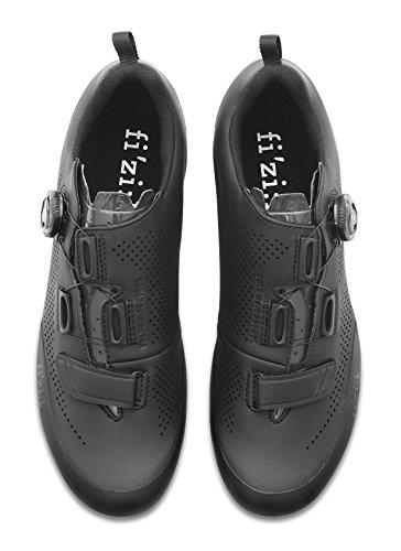 Fizik Terra X5 MTB Schuhe Herren schwarz/schwarz Schuhgröße 45 2018 Spinning-Schuhe MTB-Shhuhe