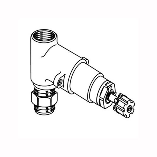 Rough Valve Included Handle (American Standard R701R701 1/2 Inch Rough On/Off Volume Control Valves, 1/2-Inch Inlet/Outlet (Handle Not Included))