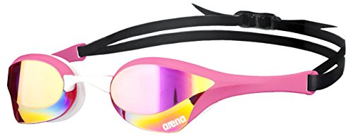 arena Cobra Ultra Mirror Swim Goggles, Pink Copper / Pink / White