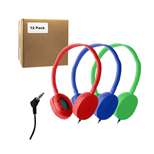 Bulk Headphones for School Library Classroom Airplane Hospital Museum Hotel Tours Gym Students Adjustable Disposable…