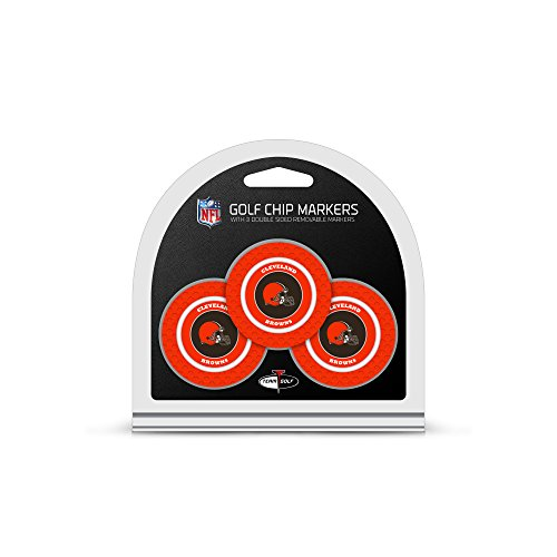 NFL Cleveland Browns 3 Pack Golf Chip Ball Markers Cleveland Browns Ball Marker