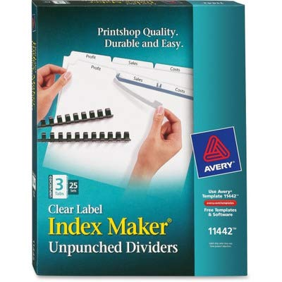 AVE11442 - Avery Index Maker Clear Label Divider