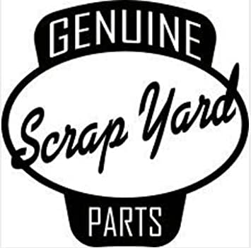 Genuine scrap yard parts funny symbol funny bumper sticker car van bike sticker decal free pp
