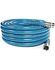 """Camco 50ft Premium Drinking Water Hose - Lead Free and Anti-Kink Design - 20% Thicker Than Standard Hoses - Features a 5/8"""" Inner Diameter (21009)"""