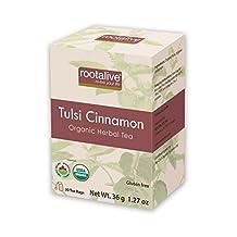 Rootalive Organic Tulsi Cinnamon Tea, 20 Count