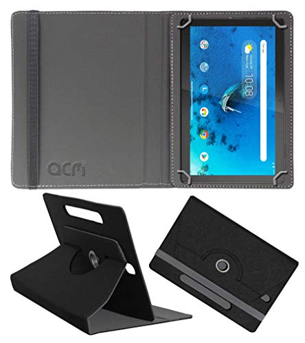 Acm Designer Rotating Leather Flip Case Compatible with Lenovo Tab M10 Hd 10.1 Inch Tb-X505X Cover Stand Black