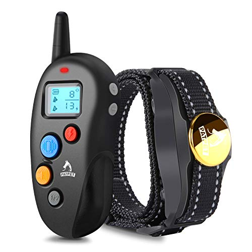 Patpet Fast Dog Training Collar IPX8 Waterproof, Rechargeable Shock Collar for Dogs, 1600FT Long Remote Range, 3 Optional Modes Beep/Vibration/Shock, Easy-to-Use E Collar for Small/ Medium/Large Dogs