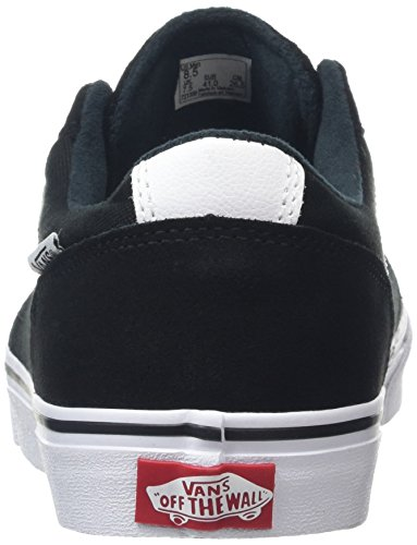 Vans Blues-white Chapman Stripe Shoe In Pelle Scamosciata Canvas Nero Bianco