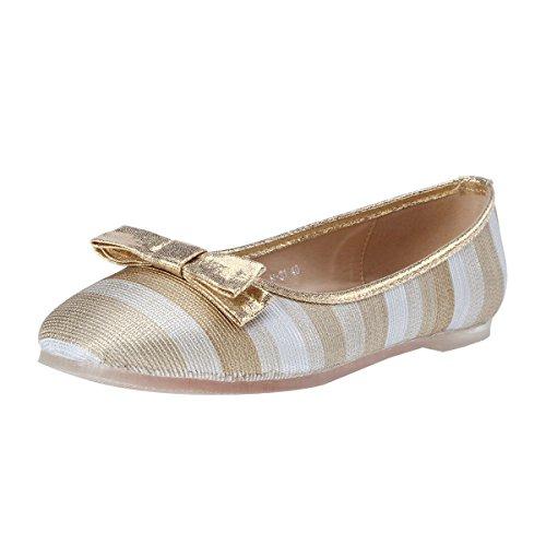 Damara Color Surtido Mujeres Zapatos Planos Con Lazo Aapatillas Casual Dorado