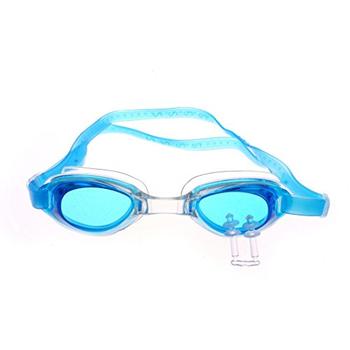 Price comparison product image Kids Swim Goggles with Ear Plugs,  Swimming Glasses for Children and Early Teens from 3 to 15 Years Old,  Anti-Fog,  Waterproof,  UV Protection,  Made by Boofab (B)