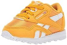 Reebok Unisex Adult's Boys' Classic Nylon Sneaker TREK GOLD/WHITE 6.5 M US Infant