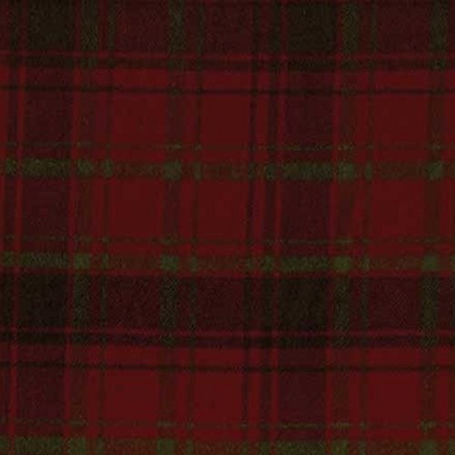 Marcus Fabric Christmas Primo Cotton Flannel Plaid Crimson Hunter