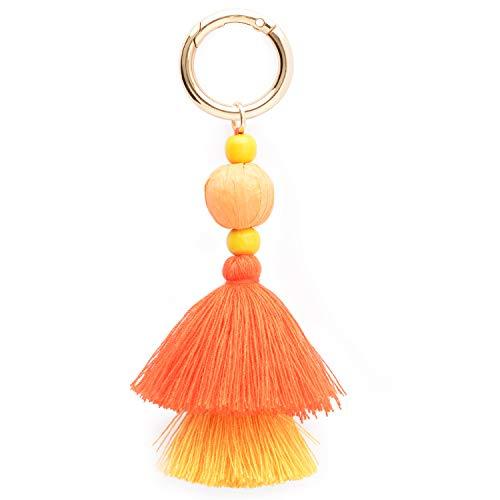 Colorful Boho Pom Pom Tassel Bag Charm Key Chain (K style)