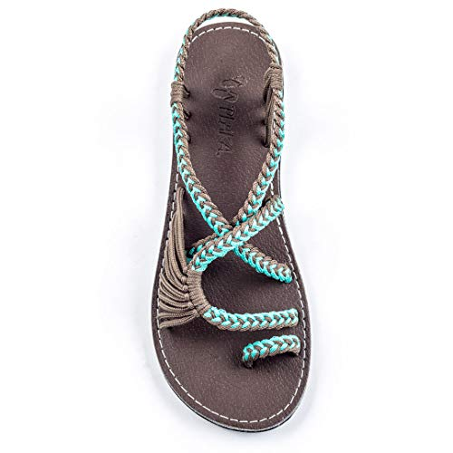 Plaka Flat Sandals for Women Palm Leaf