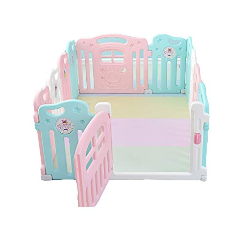 Multi-Color Baby Playpen External Door Lock Design Child Safety Playpens Home Baby Indoor Fence Soft Material Playground-10 ()