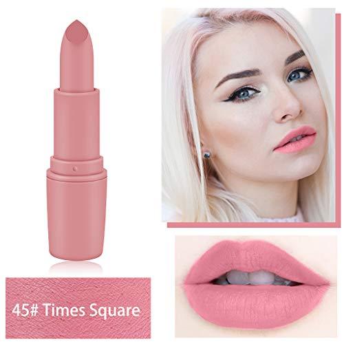 - lkoezi Matte Lipstick, Instant Charm Easy to Color Lipstick Lip Makeup Brick red Bullet Lip Gloss Aunt Color Glaze 25 Colors