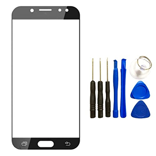 Screen Glass Panel Lens for Samsung Galaxy J7 2017 J727- Front Glass Touch Screen LCD Outer Panel Lens Repair Part+Tools Kit for Galaxy J7 2017 SM-J727&J7 Sky Pro&J7 Prime 2017(Not LCD &Not Digitizer)