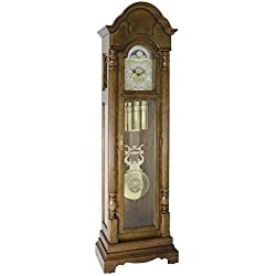 Hermle 010994041161 Triple Chiming Brookfield Grandfather Clock - American Dark Oak