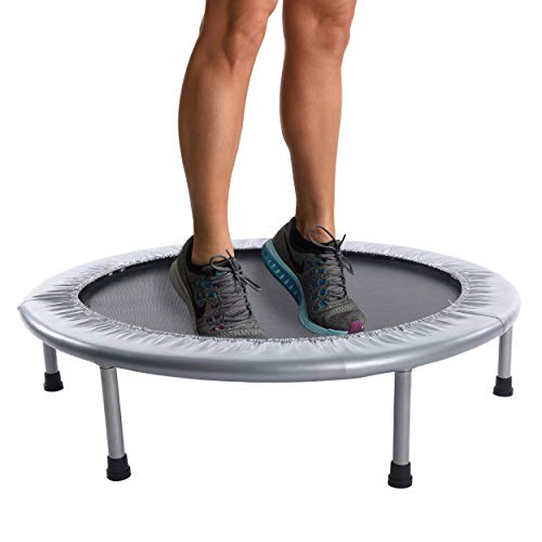 Stamina 36-Inch Folding Trampoline | Quiet and Safe Bounce | Access To Free Online Workouts Included | Supports Up To 250 Pounds (30 Minute Cardio Workout At Home No Equipment)