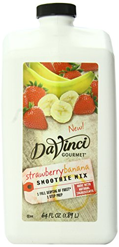 DaVinci Natural Fruit Smoothies Strawberry Banana, 64 Ounce