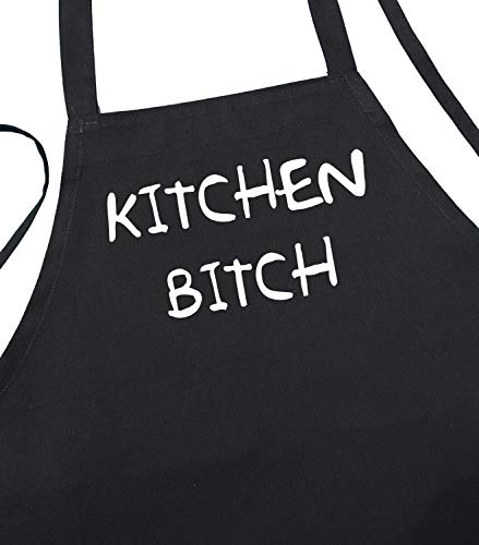 Kitchen Bitch Funny Black Apron For Cooking