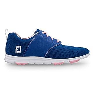 FootJoy Women's Enjoy-Previous Season Style Golf Shoes Blue 8 M Pink, US