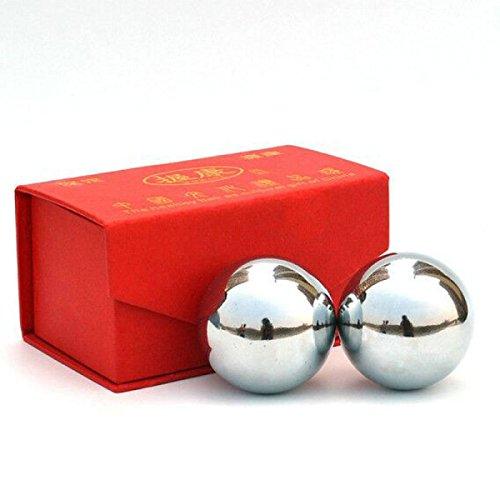 Chine Baoding Boule De Fer Chrome Ballon De Fitness Décompression Handball Creux Sonnerie Boule De Massage,53mm310g