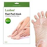 [UPDATE] 2 Pairs Lanboo Exfoliating Foot Peeling Mask Peel Booties for Callus Dead Skin, Get Soft Touch Smooth Feet in 1 Week, Repair Rough Heels for Men Women