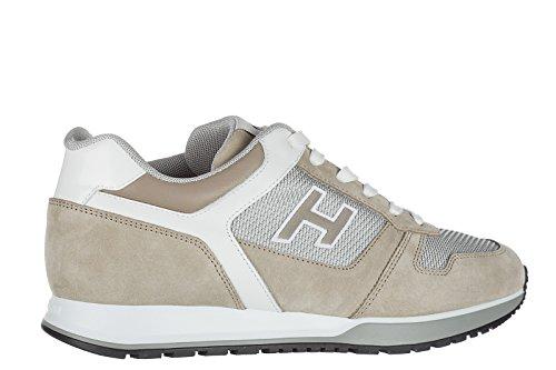 Hogan Herrenschuhe Herren Wildleder Sneakers Schuhe h321 h flock beige
