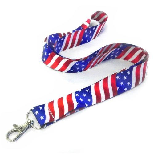 American Flag Lanyard - 1