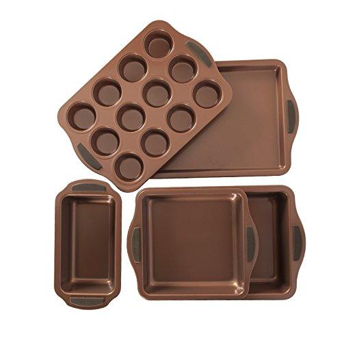 Nordic Ware 12442AMZ Copper 5-Piece Bakeware Set
