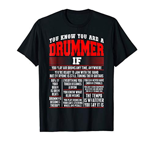 You Know You Are Drummer If You Play Air Drum Anytime TShirt