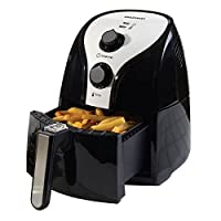 Daewoo Branded Black & Silver Health Low Fat Oil Free Rapid Air Fryer Cooker - 2.5L 1500W