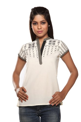 Women's Indian Topwear Black X-Small by In-Sattva