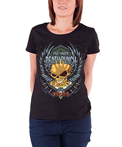 Five Finger Death T Shirt Trouble Band Logo Official Womens Junior Fit Black