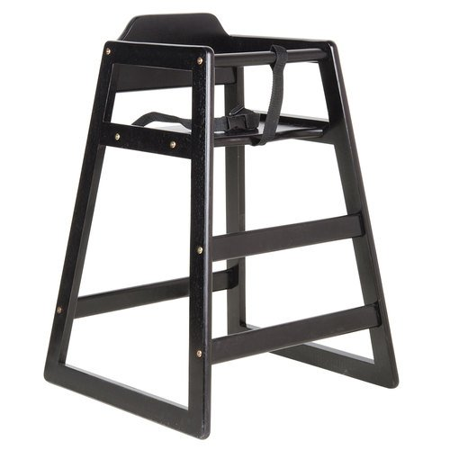 Premier Choice Black Stacking Restaurant Wood High - Restaurant Chair Stacking High