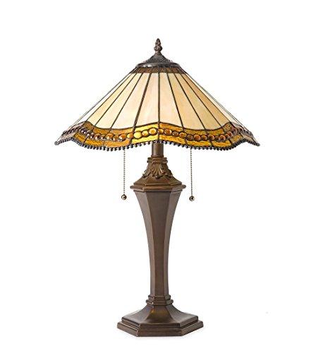 Plow & Hearth Oak Park Tiffany-Style Table Lamp