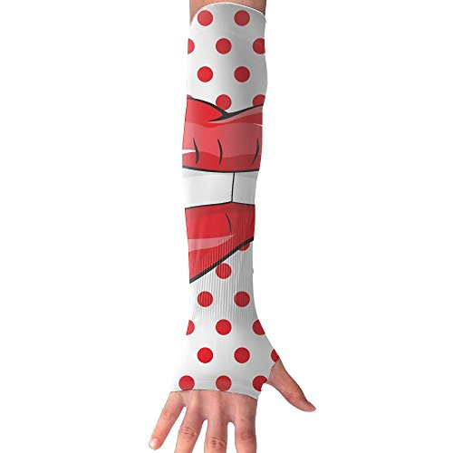 Vintage Lips Pop Art Unisex Sun Protection Arm Sleeve For Outdoor Sports, Climb, Running, Fishing, Driving, Armguards (Pop Art Man Costume)