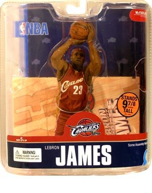 LEBRON JAMES / CLEVELAND CAVALIERS RED JERSEY McFarlane 6 Inch NBA SERIES 13 Sports Picks Action Figure