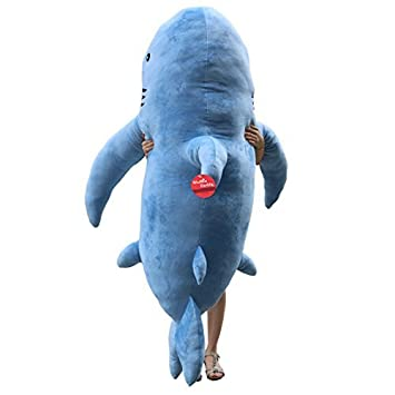 Niuniu Daddy 71'' Giant Shark Plush Pillow Super Large Stuffed Animal Toys