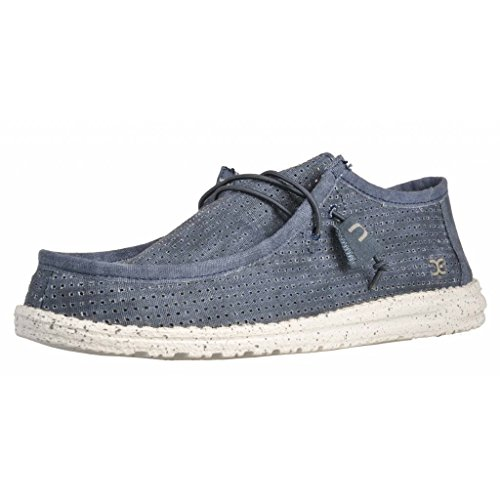 Wally Perforated Blue