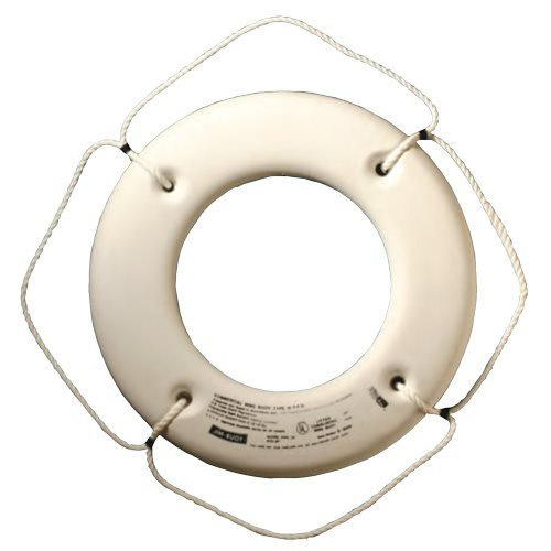 Jim-Buoy HS-20 W U.S.C.G. Approved Hard Shell Series Life Ring, White, 20'' by Jim-Buoy