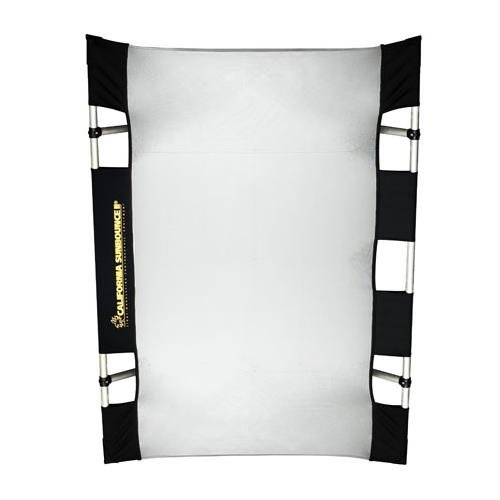 California Sunbounce Mini Kit (3 x 4 Feet) Kit-Reflector Panel Kit with Frame and Carry Bag (Silver/White) by California Sunbounce