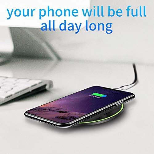 ワイヤレス充電器は、2パック10Wは、Fast 11月11日のPro / 11プロマックス/のXマックス/XR/XS/X / 8月8日プラス、10WギャラクシーS10 S9 S8用/ノート10 iPhone用のパッド、チー認定、7.5W充電します